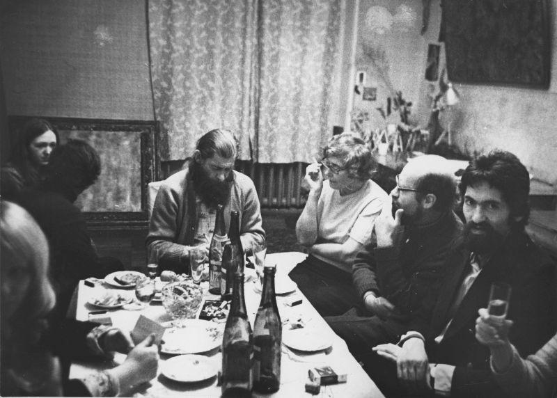 Домашний вечер в честь открытия выставки 1978 года