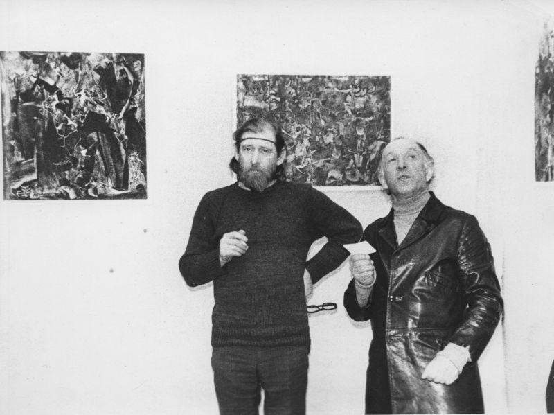 На выставке в Москве, 1982 год.
