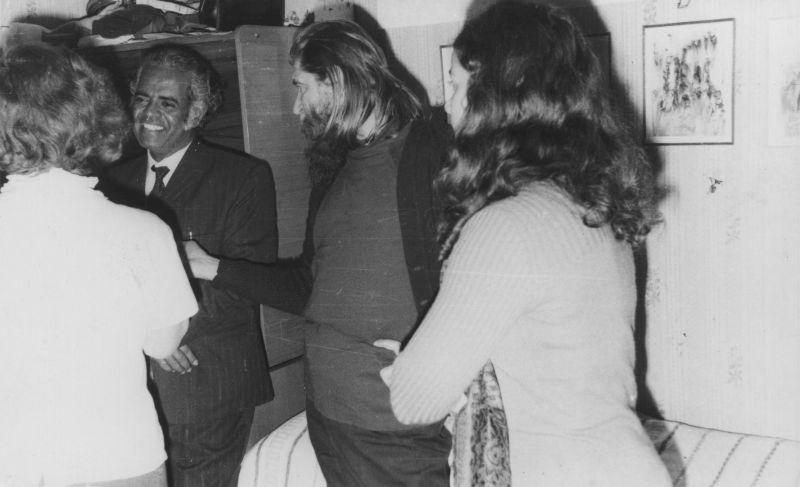 Михнов-Войтенко с гостями. 1973 год.